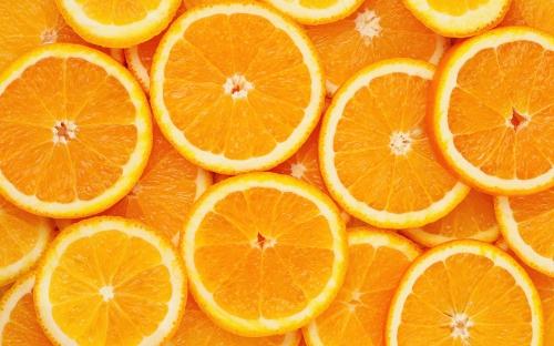 Тонко порезанные апельсины