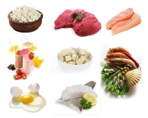 Продукты и блюда, содержащие белок