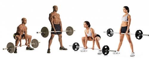 Становая тяга выполняется мужчиной и женщиной