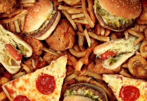 Пицца и гамбургеры