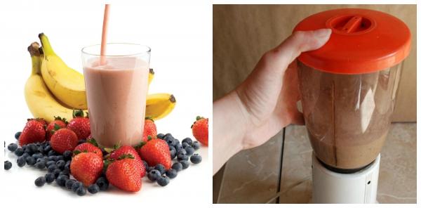 Ягодные и фруктовые белковые коктейли