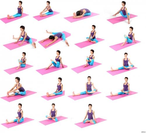 Упражнения на коврике для йоги