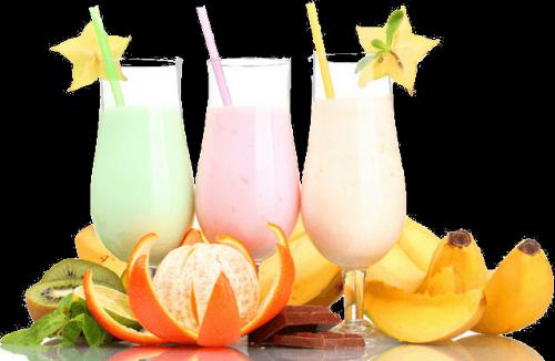 Три фруктовых коктейля