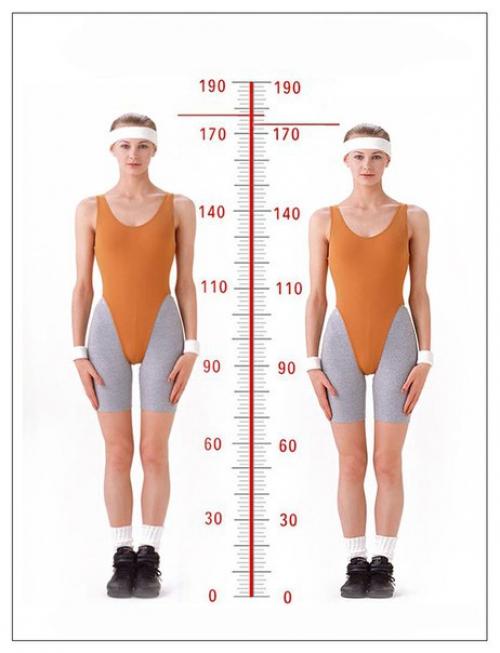 Девушка до и после увеличения роста с помощью упражнений