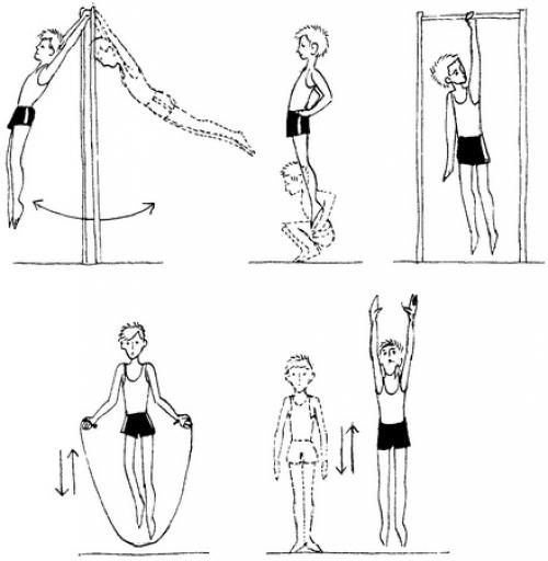 Упражнения на увеличение роста