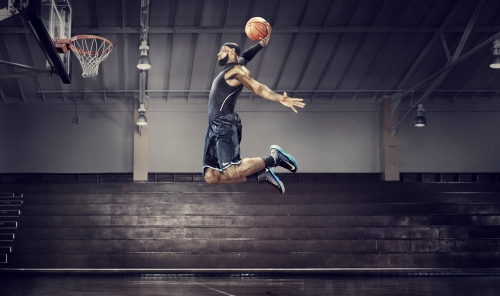 Прыжок в высоту в баскетболе