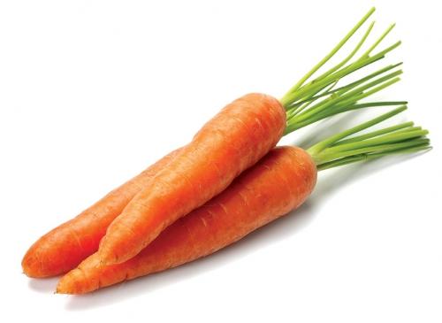 Морковка с ботвой